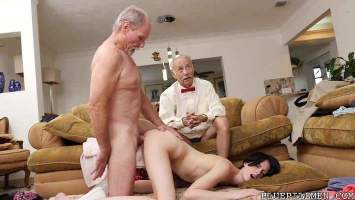 Старики порно анал