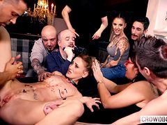 Трах молодухи на вечеринке с бондажем